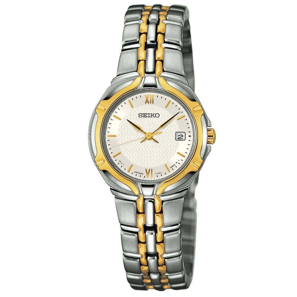 626-063 - Seiko Women's Core Quartz Date Two-Tone Stainless Steel Bracelet Watch