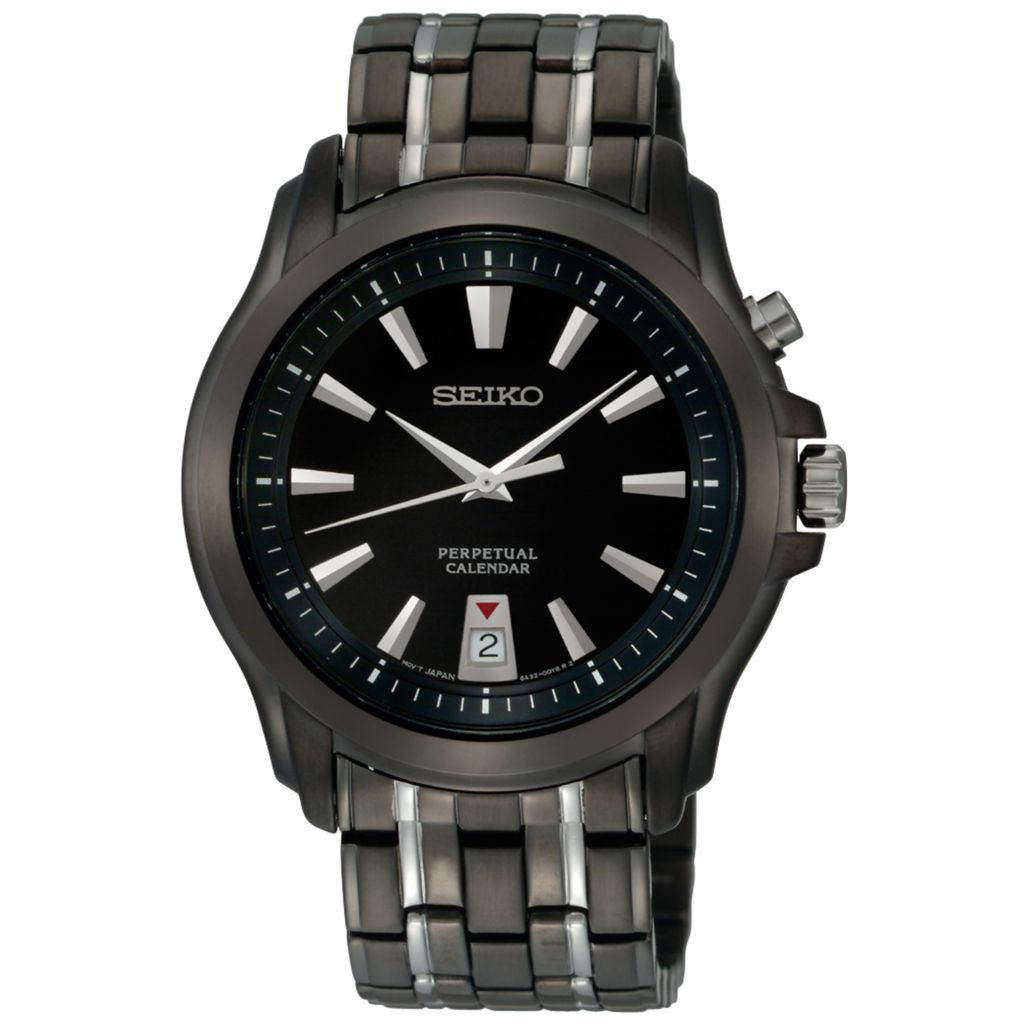 626-066 - Seiko 40mm Core Quartz Black Dial Two-tone Stainless Steel Bracelet Watch