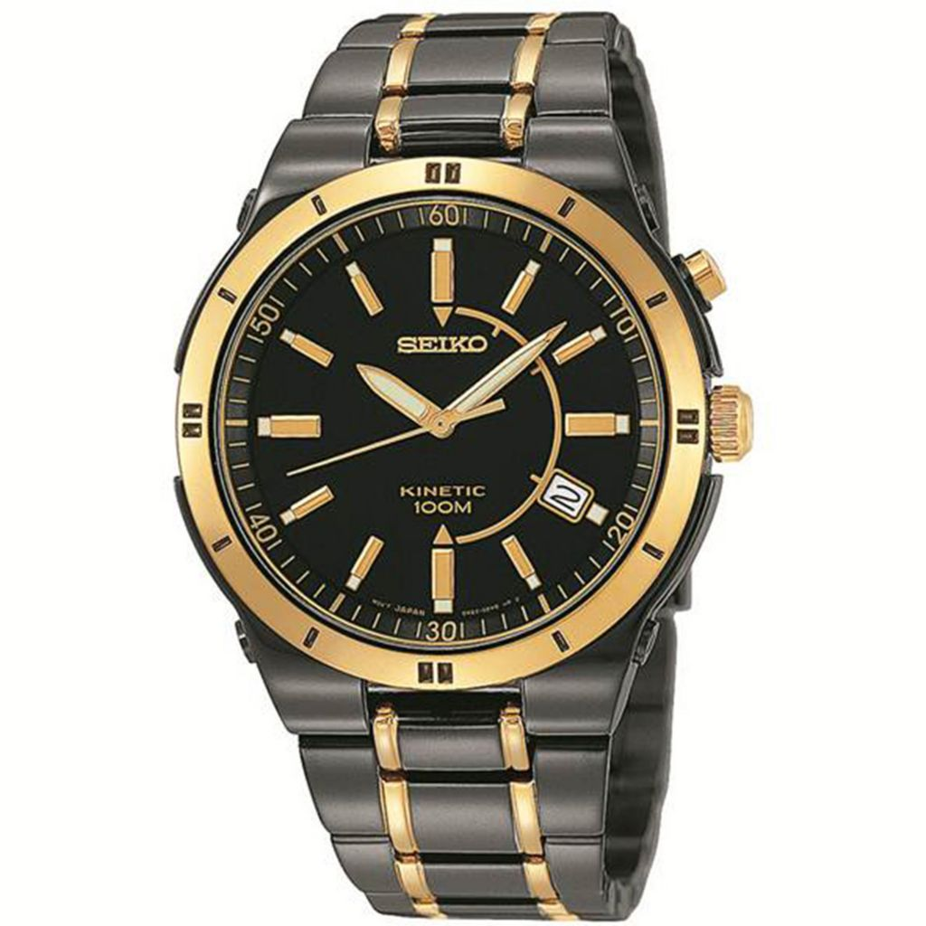 626-067 - Seiko 39.5mm Core Kinetic Two-tone Stainless Steel Bracelet Watch