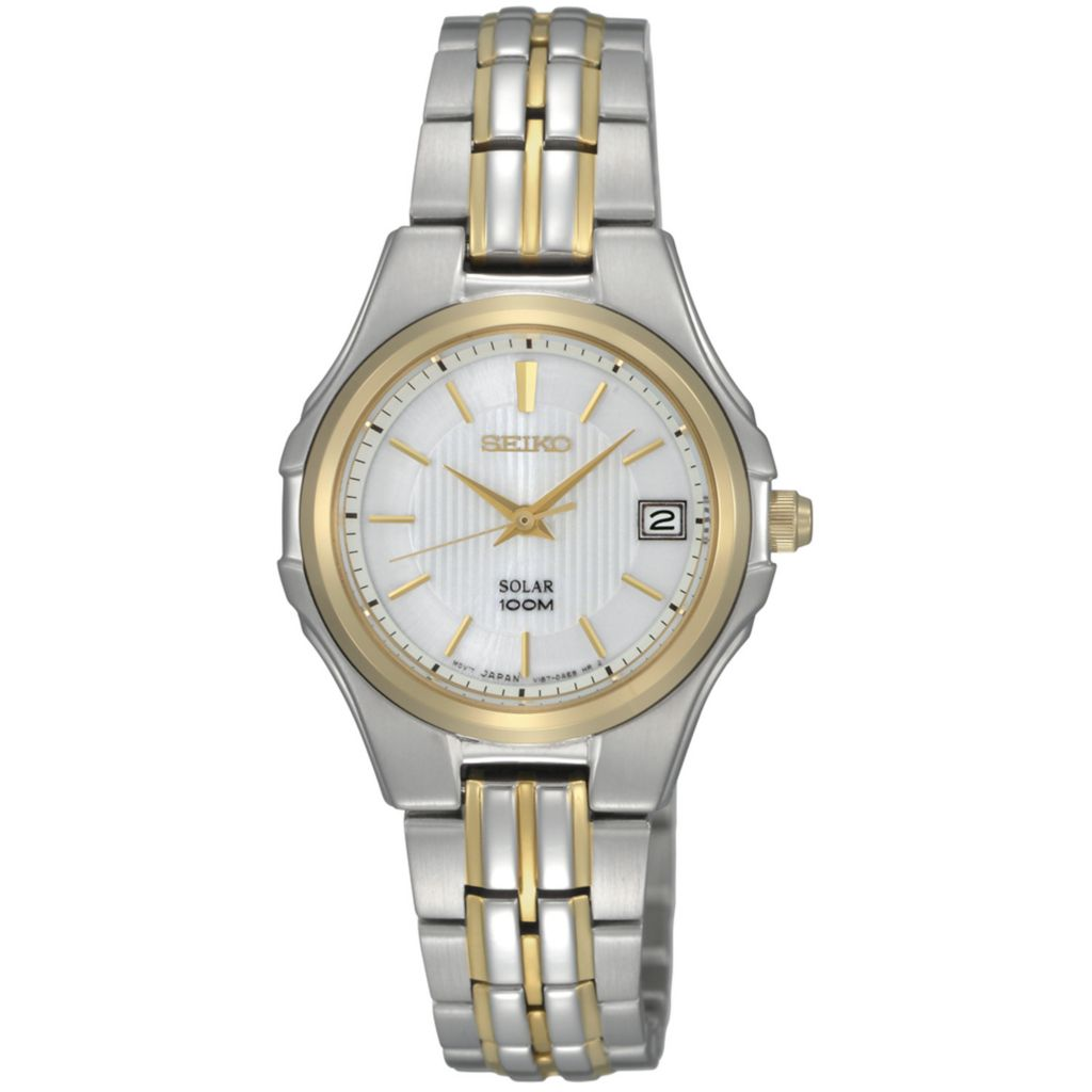 626-073 - Seiko Women's Core Solar Quartz Two-tone Stainless Steel Bracelet Watch