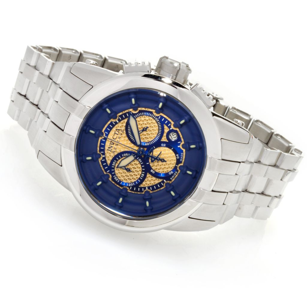626-128 - Invicta Reserve 48mm Specialty Swiss Made Quartz Chronograph Bracelet Watch