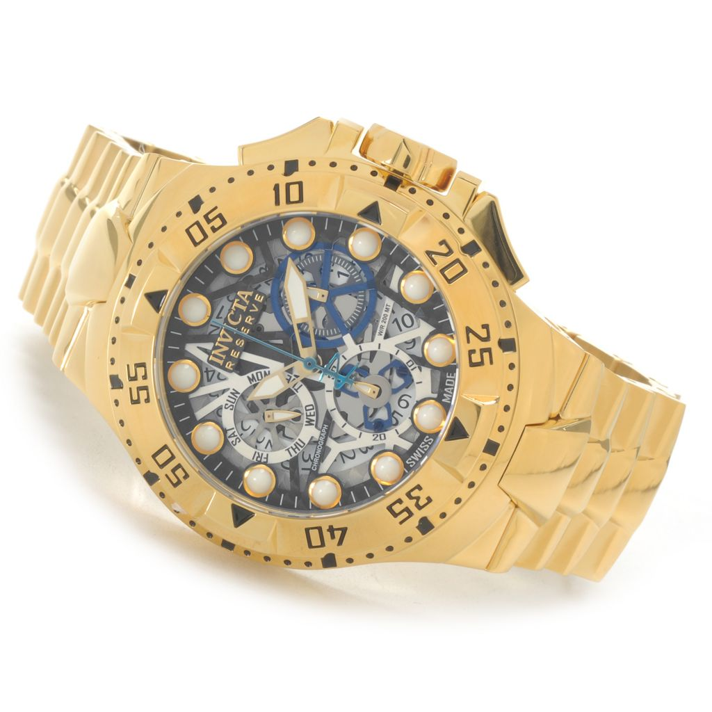 626-142 - Invicta Reserve 50mm Excursion Z60 Swiss Chronograph Stainless Steel Bracelet Watch