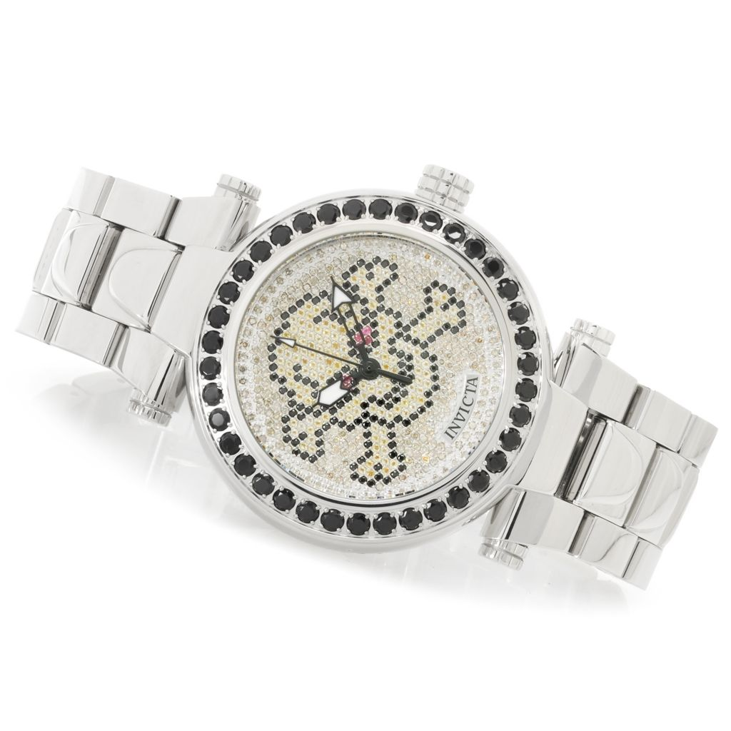 "626-143 - Invicta 47mm Subaqua Noma I ""Skull"" Quartz Diamond Pave Dial Bracelet Watch"