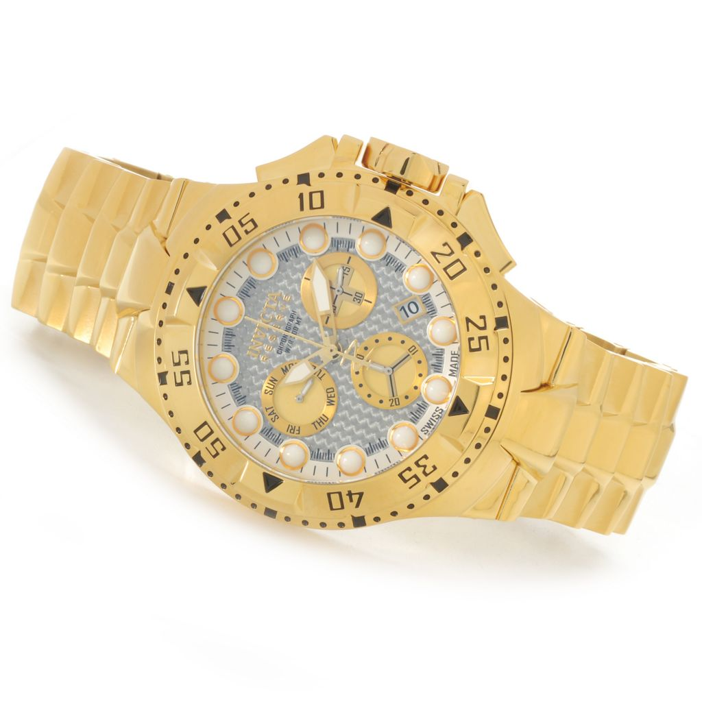 626-147 - Invicta Reserve 50mm Excursion Z60 Swiss Chronograph Carbon Fiber Dial Bracelet Watch