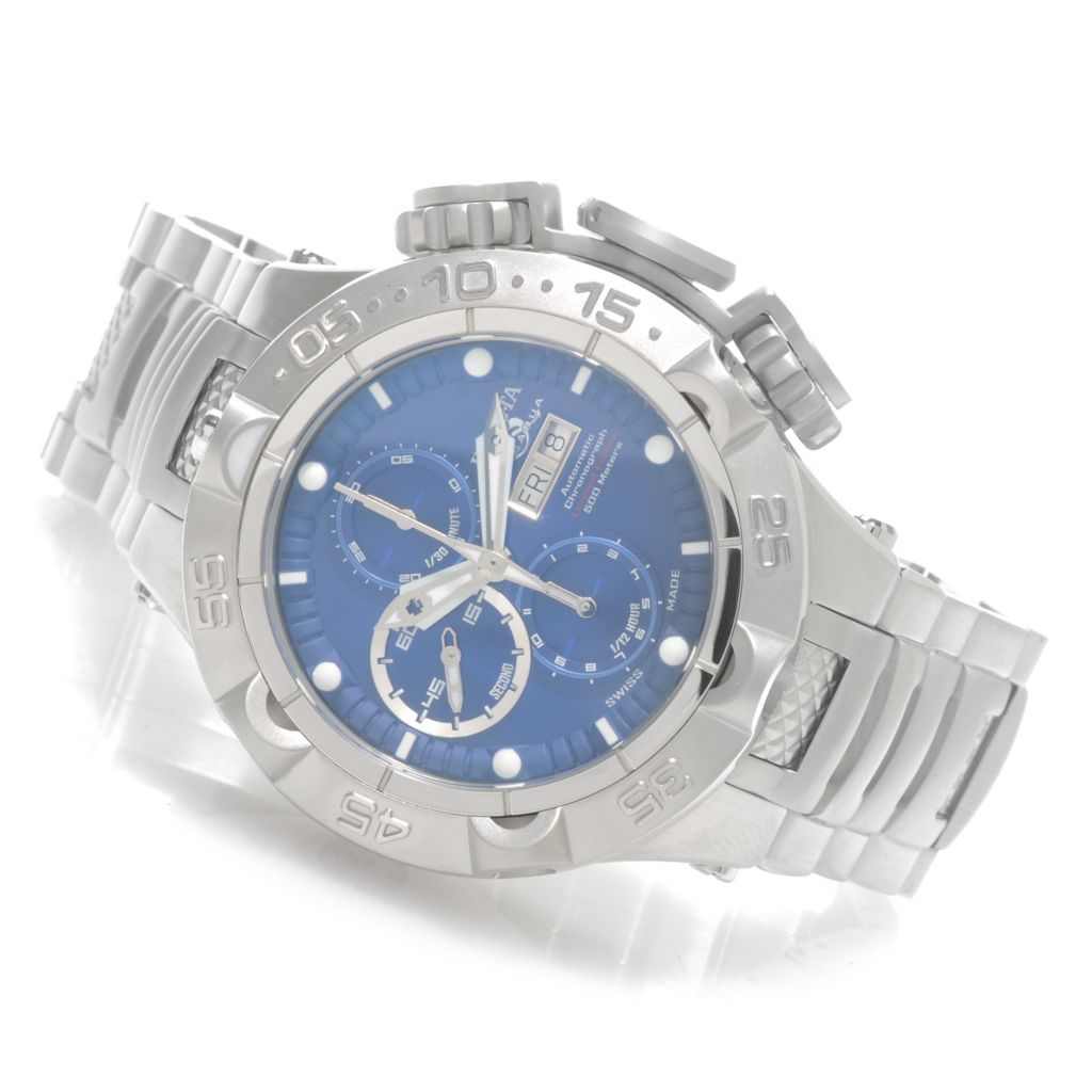 626-192 - Invicta 50mm Subaqua Noma V Swiss Automatic SW500 Chronograph Bracelet Watch