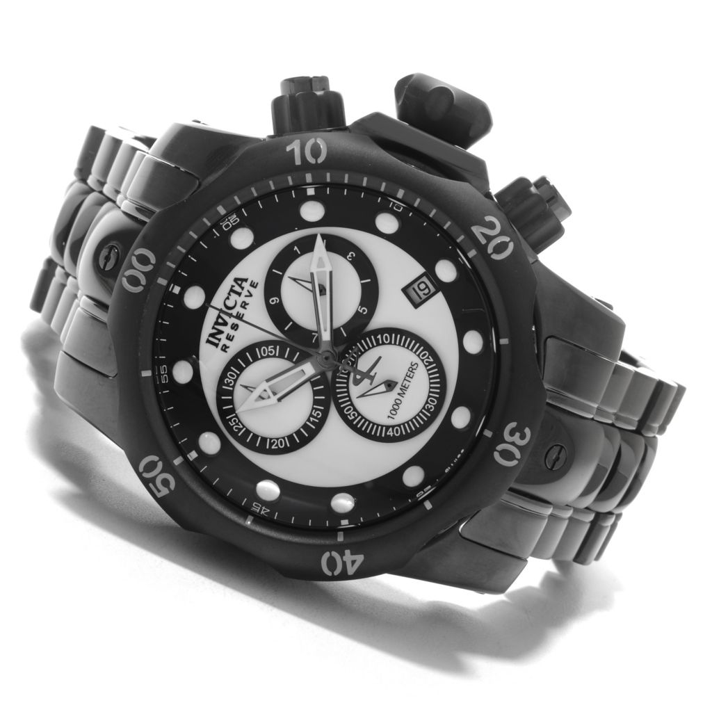 626-196 - Invicta Reserve 52mm Venom Swiss Chronograph Lume Dial Bracelet Watch