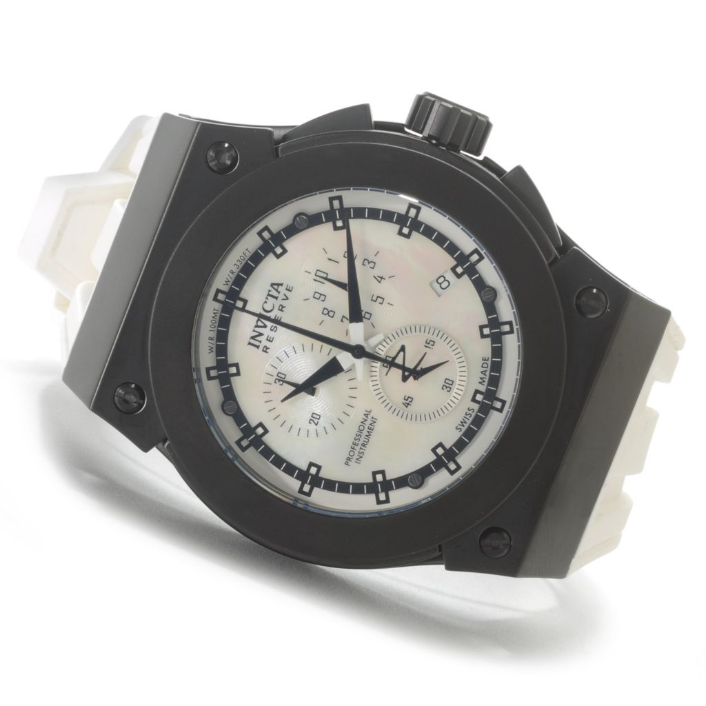 626-198 - Invicta Reserve 52mm Akula Swiss Made Quartz Chronograph Silicone Strap Watch