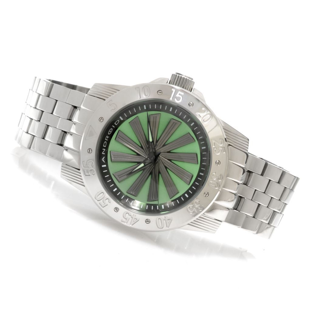 626-200 - Android 48mm Time Machine Automatic Spinning Rotor Bracelet Watch