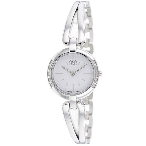 626-223 - ESQ Movado Women's Corbel Swiss Quartz Diamond Accented Bezel Bracelet Watch