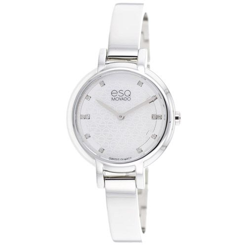 626-225 - ESQ Movado Women's Contempo Swiss Quartz Diamond Accent Stainless Steel Bracelet Watch