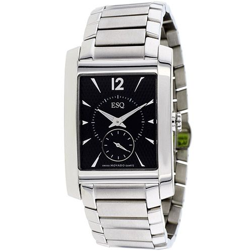 626-228 - ESQ Movado Rectangular Venture Swiss Quartz Stainless Steel Bracelet Watch