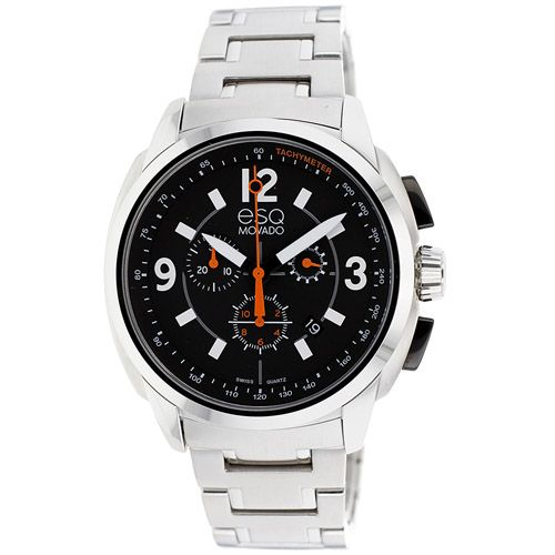 626-231 - ESQ Movado 44mm Excel Swiss Quartz Chronograph Stainless Steel Bracelet Watch