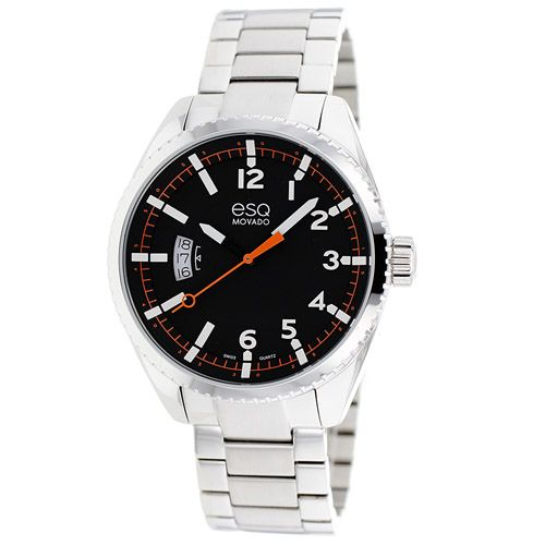 626-232 - ESQ Movado 43mm Catalyst Swiss Quartz Stainless Steel Bracelet Watch
