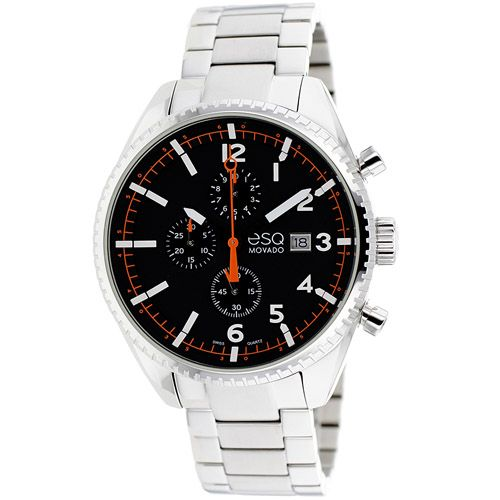 626-233 - ESQ Movado 44mm Catalyst Swiss Quartz Chronograph Stainless Steel Bracelet Watch