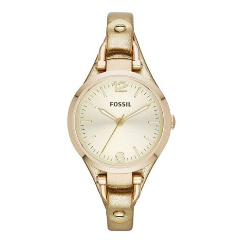 626-245 - Fossil Women's Georgia Quartz Gold-tone Stainless Steel Leather Strap Watch