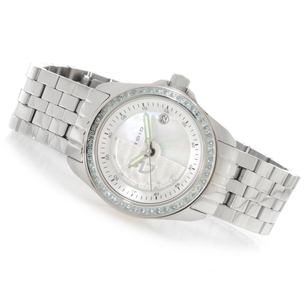 626-311 - Android 42mm Rotator Limited Edition Automatic Gemstone Accented Bracelet Watch
