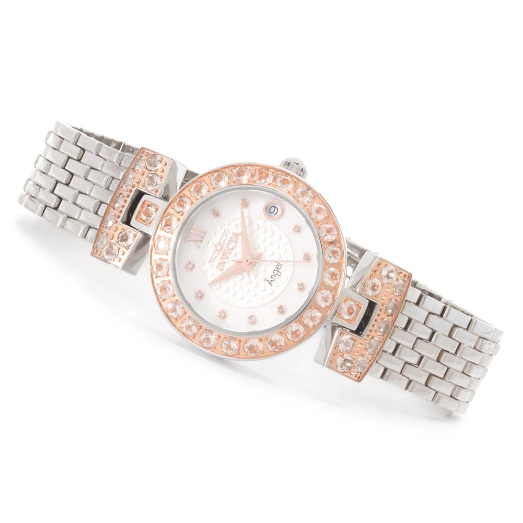 626-315 - Invicta Women's Angel Blush Hearts Quartz 4.04ctw Morganite Bracelet Watch