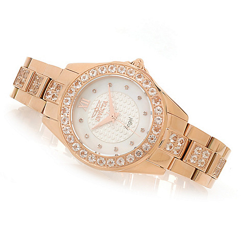 626-349 - Invicta Women's Angel Blush Hearts Quartz 4.91ctw Morganite Bracelet Watch
