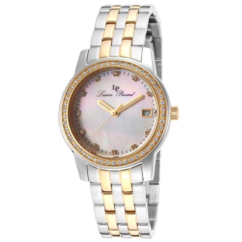 626-403 - Lucien Piccard Women's Taney Quartz Mother-of-Pearl Dial Stainless Steel Bracelet Watch
