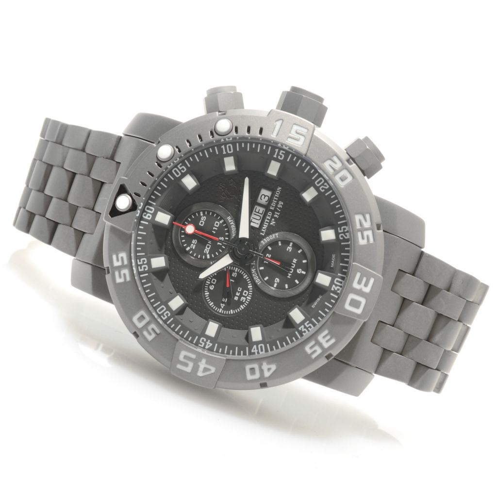 626-411 - Invicta 53mm Sea Base Swiss Valjoux 7750 Titanium Watch w/ One-Slot Dive Case