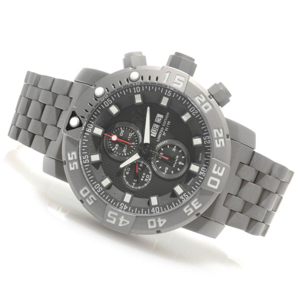 626-411 - Invicta 53mm Sea Base Swiss Valjoux 7750 Titanium Watch w/ One-Slot Dive Case