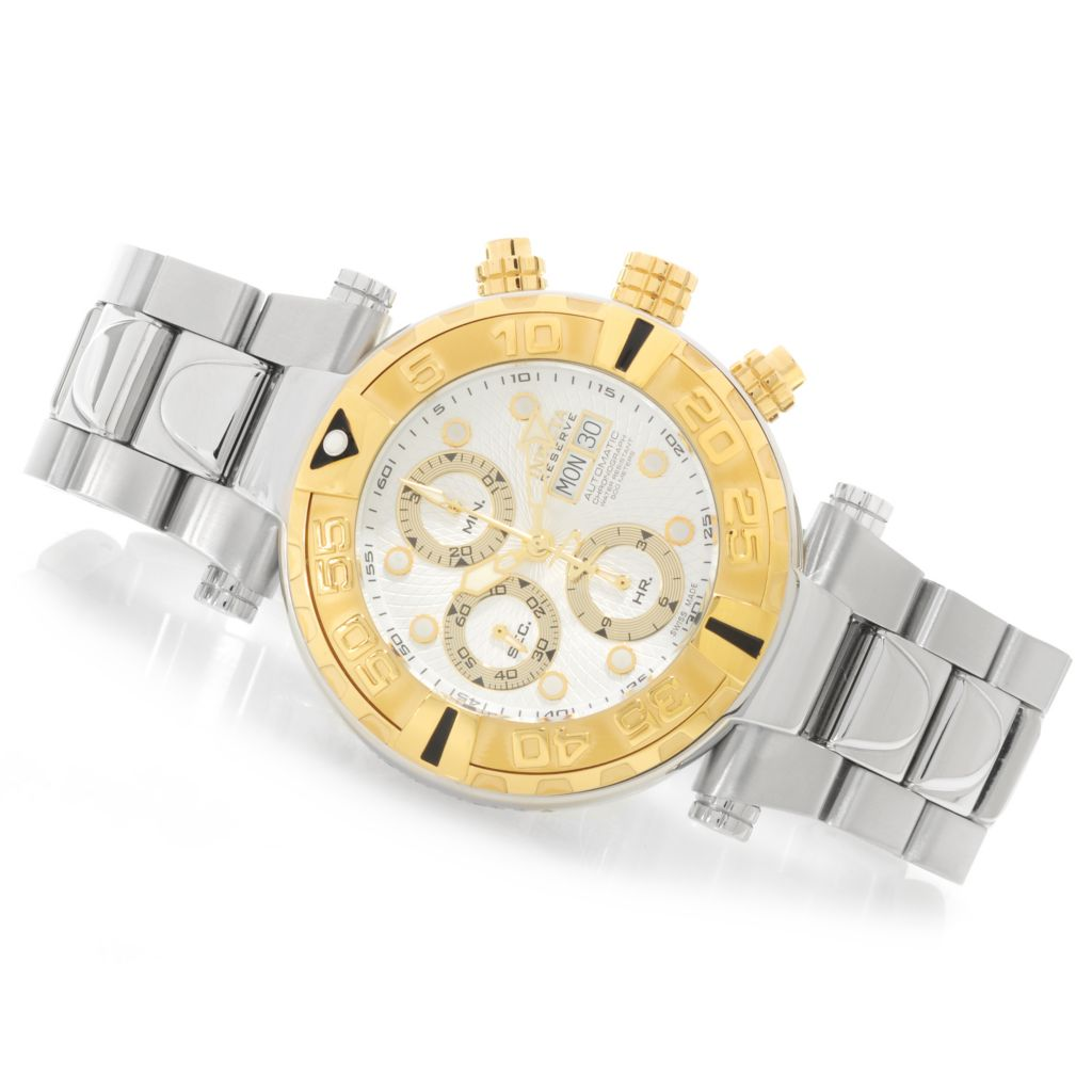 626-449 - Invicta Reserve Subaqua Noma I Swiss Valjoux 7750 Bracelet Watch w/ One-Slot Dive Case
