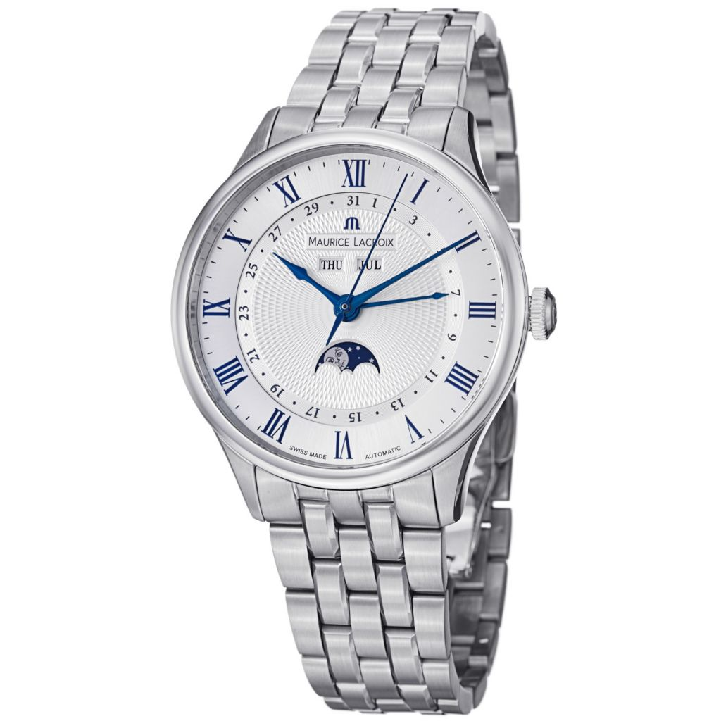 626-465 - Maurice Lacroix 40mm Masterpiece Tradition Swiss Made  Automatic Stainless Steel Bracelet Watch
