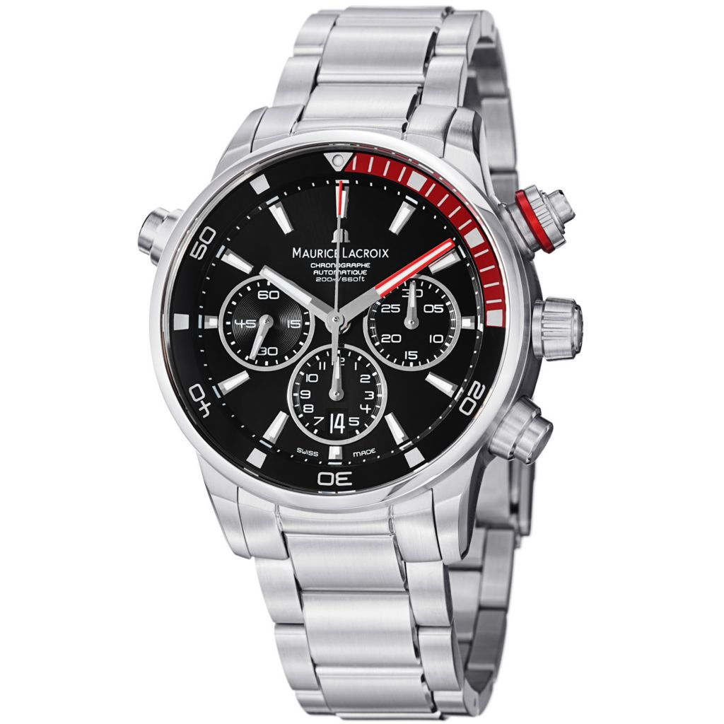 626-471 - Maurice Lacroix 43mm Pontos Swiss Made Automatic Chronograph Stainless Bracelet Watch