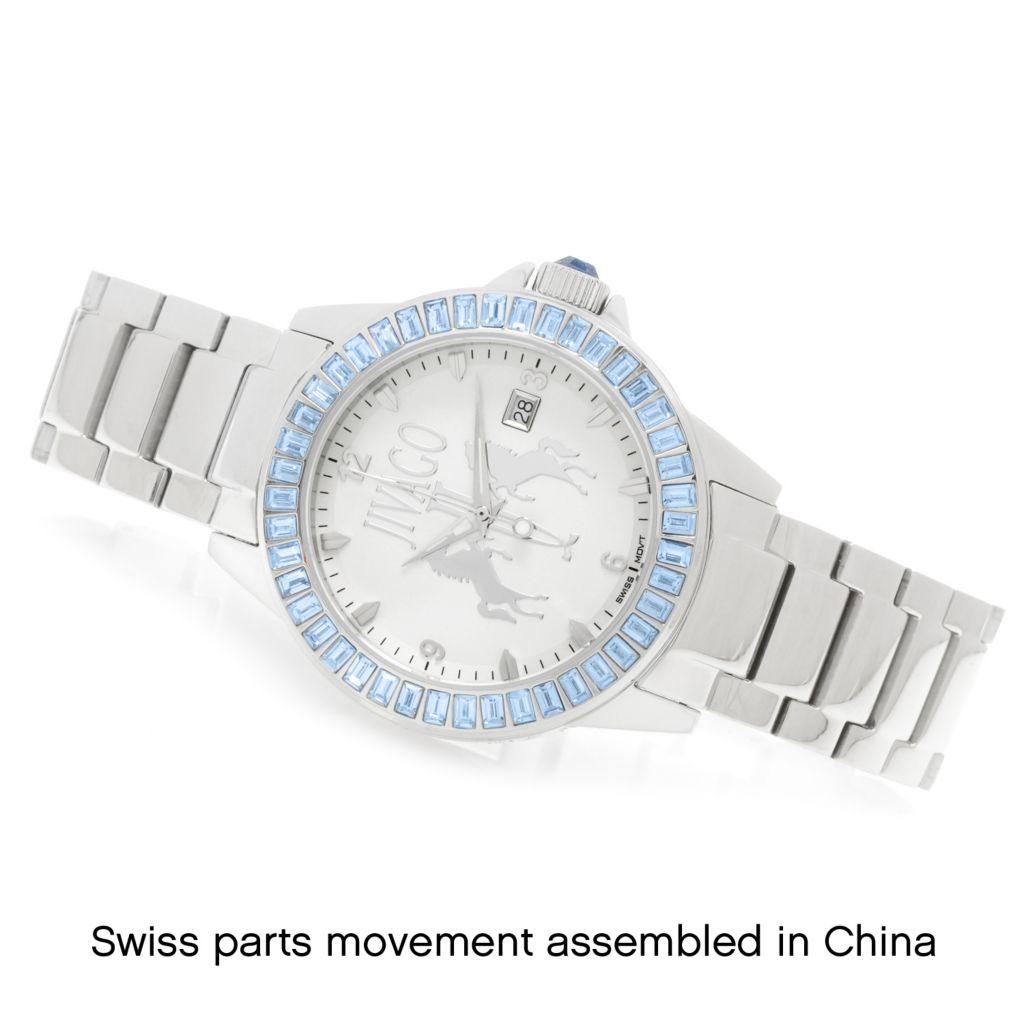 626-497 - Jivago Women's Folie Quartz Crystal Accented Stainless Steel Bracelet Watch
