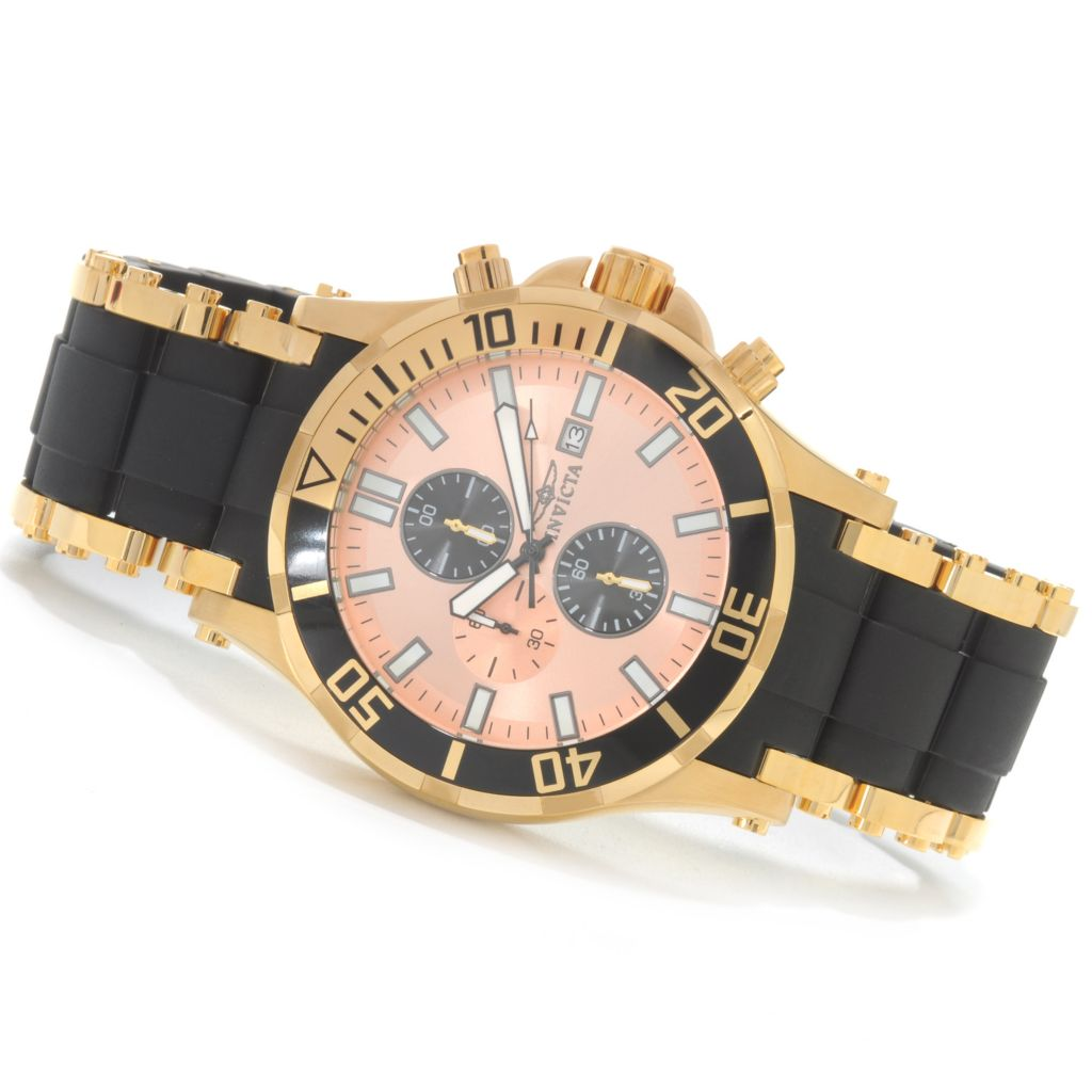 626-516 - Invicta 50mm Sea Spider Quartz Chronograph Stainless Steel Polyurethane Bracelet Watch