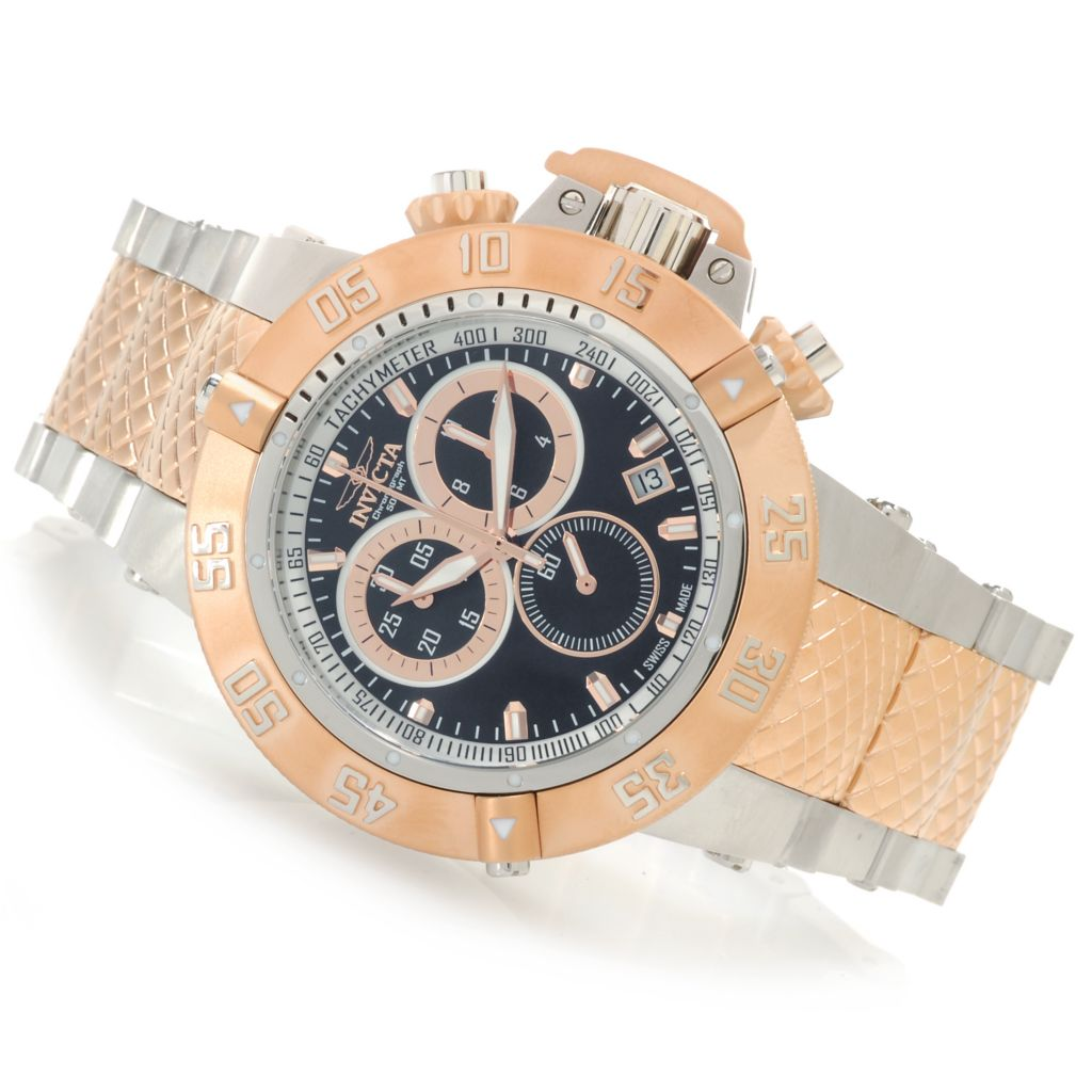 626-524 - Invicta 50mm Subaqua Noma III Swiss Made Quartz Chronograph Bracelet Watch