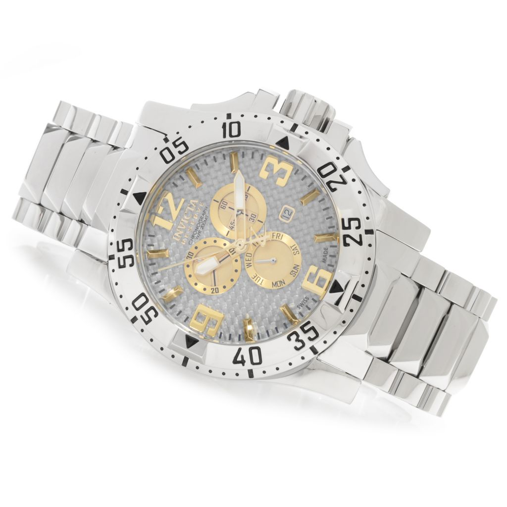 626-527 - Invicta Reserve 50mm Excursion Swiss Made Quartz Chronograph Bracelet Watch