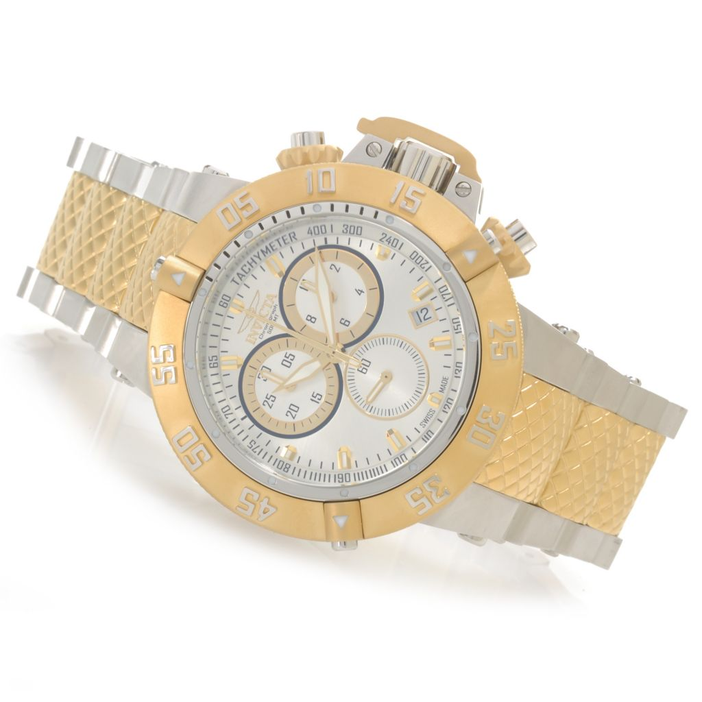 626-528 - Invicta 50mm Subaqua Noma III Swiss Made Quartz Chronograph Bracelet Watch