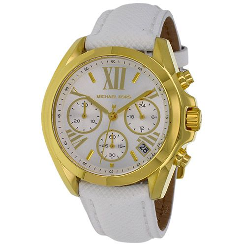 626-555 - Michael Kors Women's Bradshaw Quartz Chronograph Leather Strap Watch