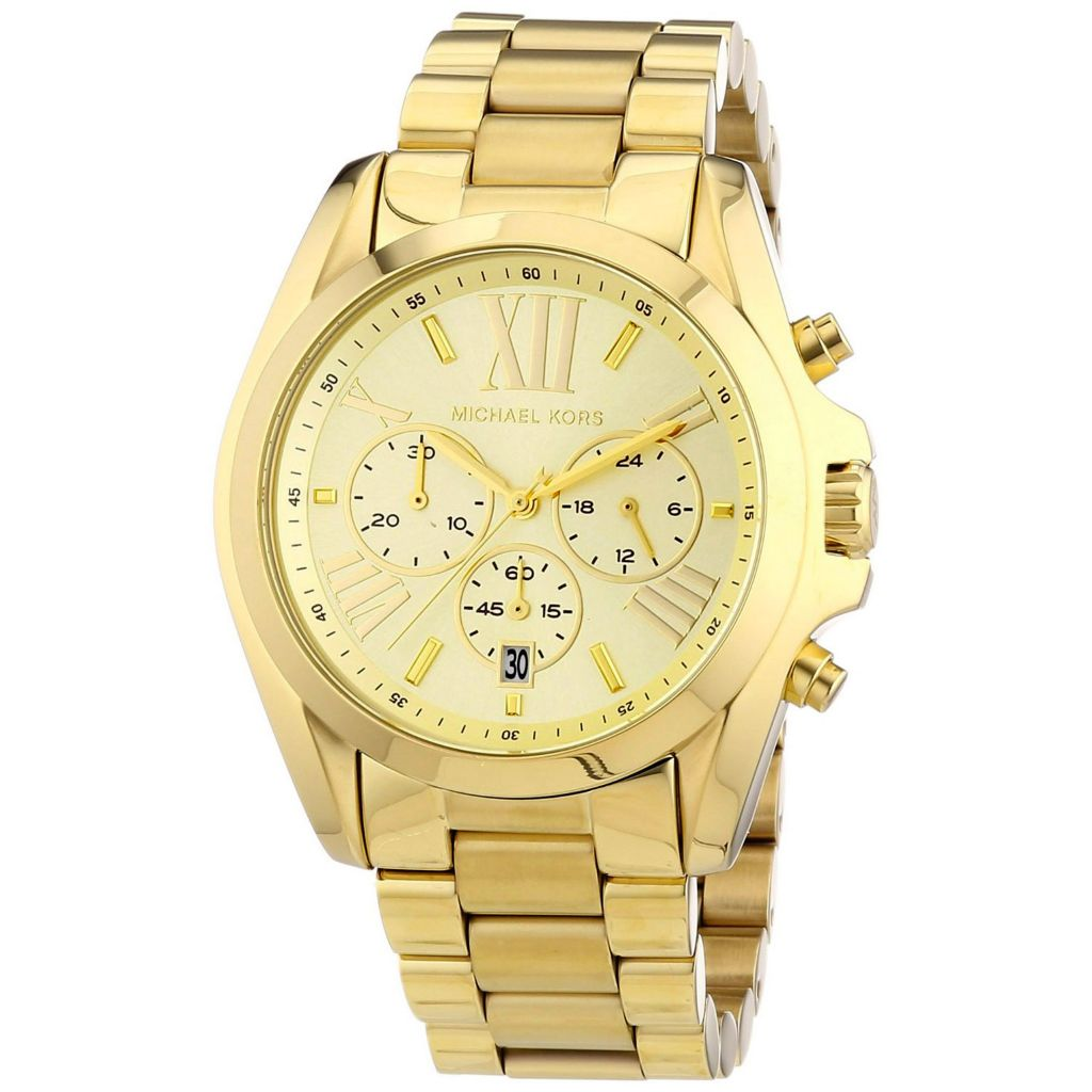 626-561 - Michael Kors 35mm Bradshaw Quartz Chronograph Stainless Steel Bracelet Watch