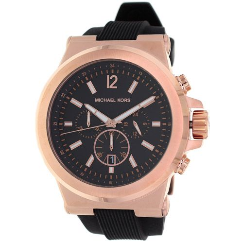 626-564 - Michael Kors 48mm Dylan Quartz Chronograph Rubber Strap Watch