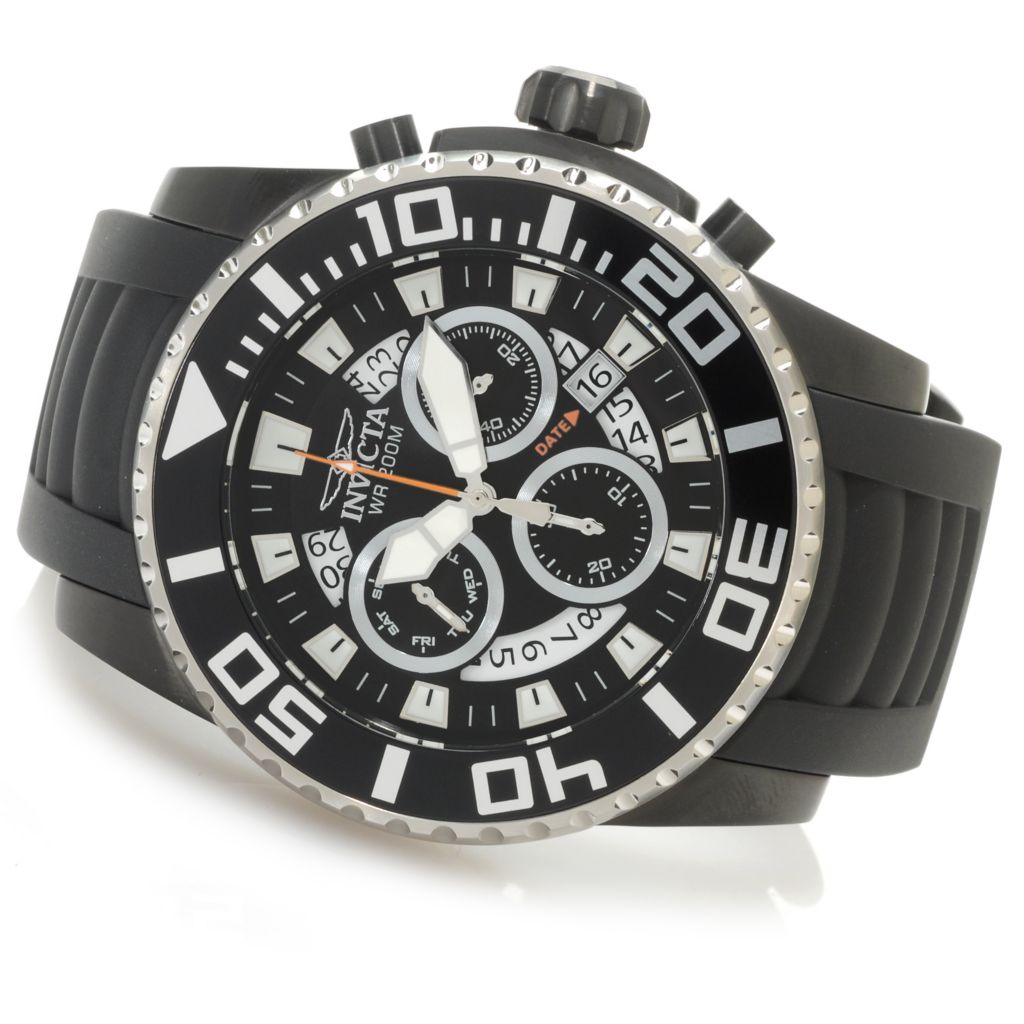 626-565 - Invicta 52mm Pro Diver Z60 Swiss Chronograph Stainless Steel Polyurethane Strap Watch