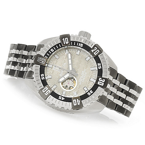 626-590 - Invicta 38mm or 50mm Jason Taylor Signature Automatic Watch w/ Three-Slot Dive Case