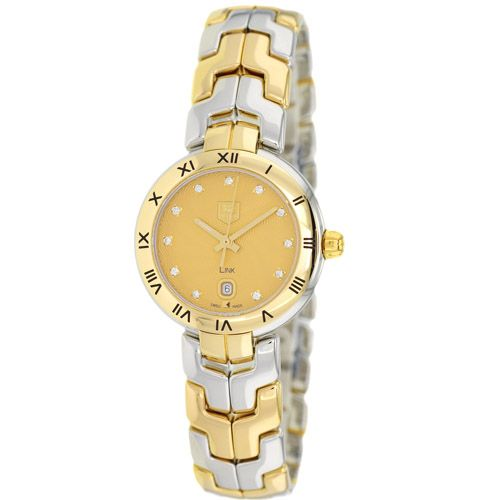 626-600 - Tag Heuer Women's Link Swiss Quartz 18K Gold & Stainless Steel Bracelet Watch