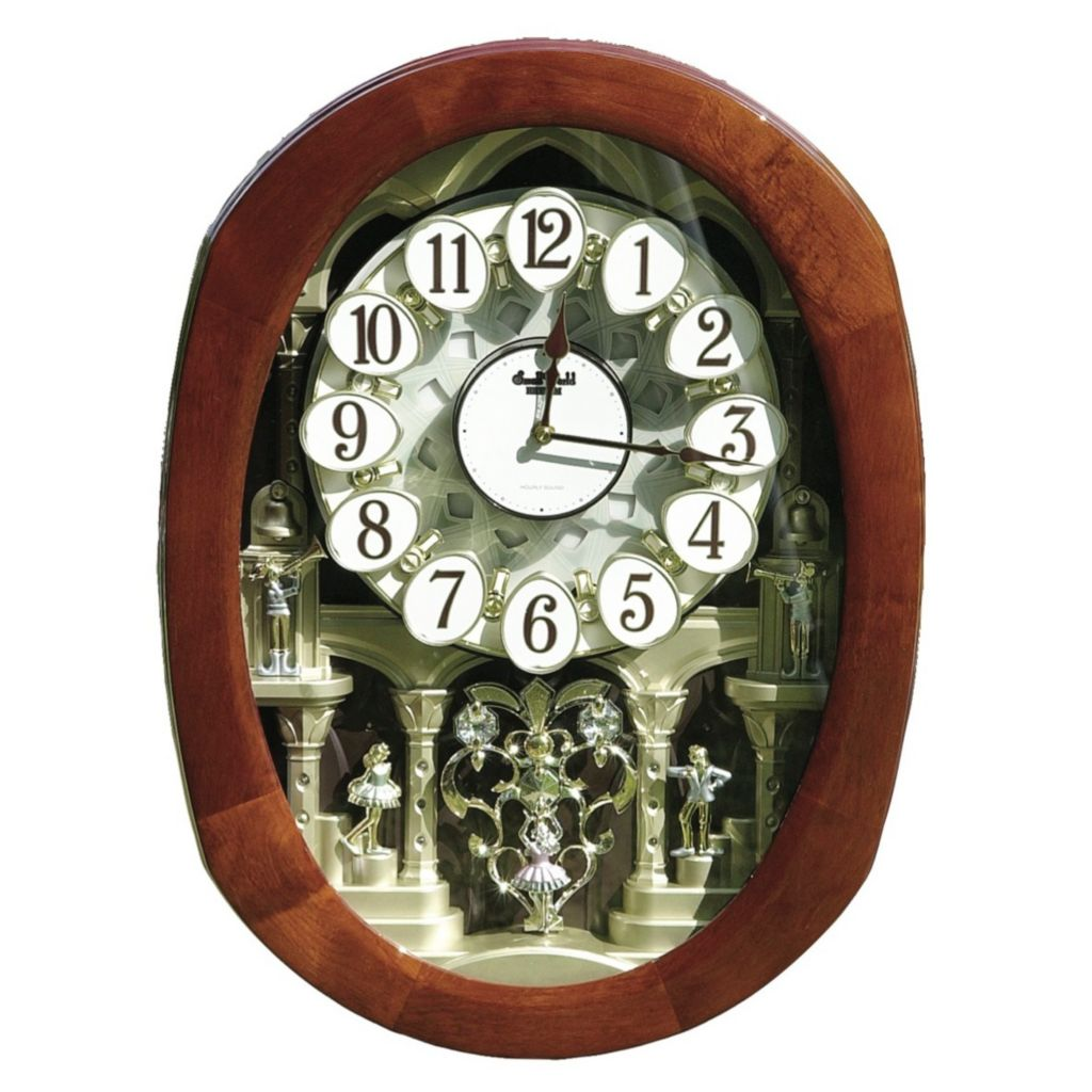 "626-603 - Rhythm® ""Grand Encore Legend"" Beatles Music Magic Motion Wall Clock"