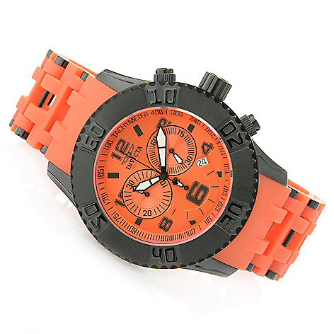 626-607 - Invicta 50mm Sea Spider Quartz Chronograph Polyurethane & Stainless Steel Bracelet Watch