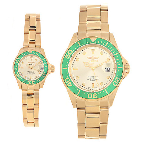 626-631 - Invicta Set of Two 24mm & 40mm Pro Diver Quartz Stainless Steel Bracelet Watches w/ Travel Box