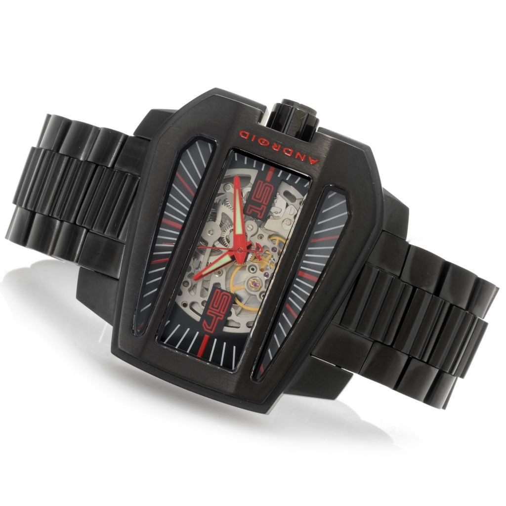 626-633 - Android 53mm Concept S Automatic Skeleton Multi Step Case Bracelet Watch