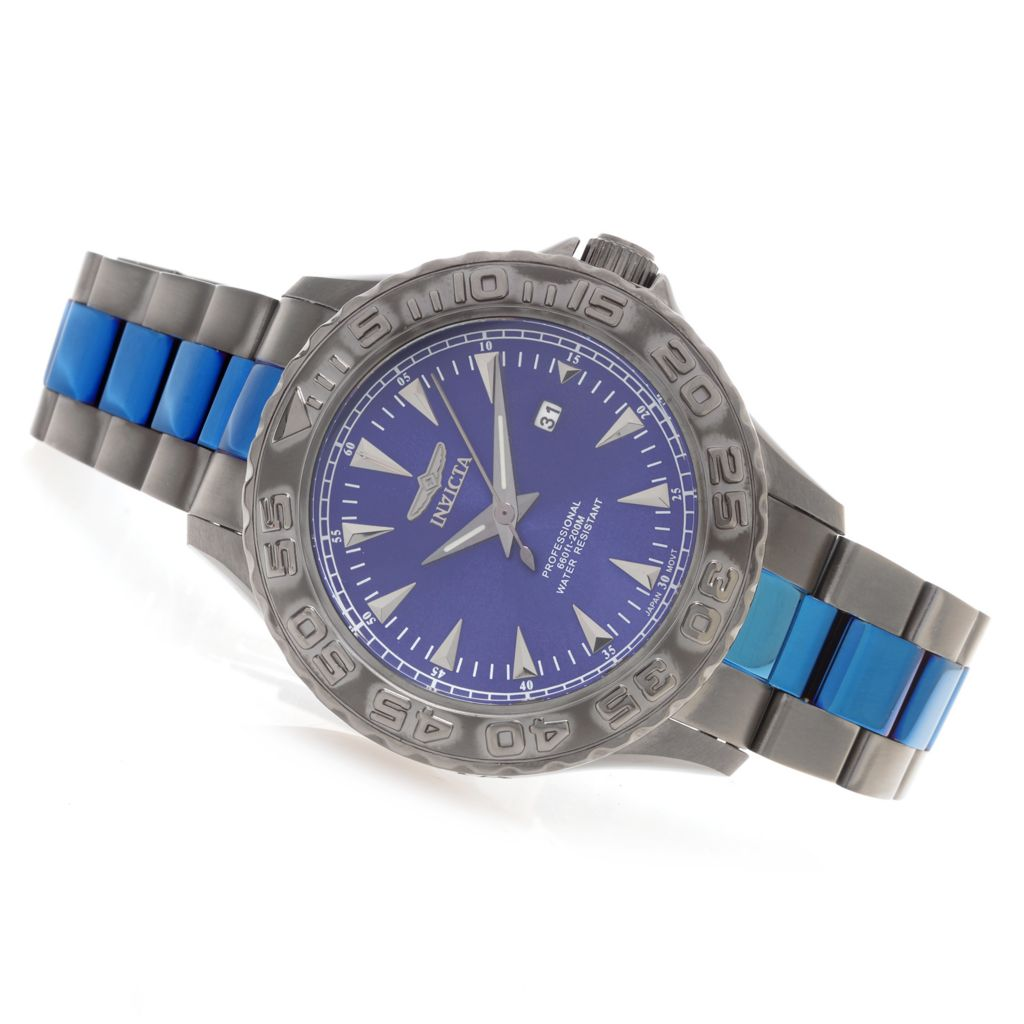 626-661 - Invicta 47mm Pro Diver Ocean Ghost Quartz Stainless Steel Bracelet Watch w/ One-Slot Dive Case