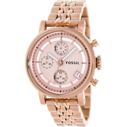 626-669 - Fossil Women's The Original Boyfriend Quartz Chronograph Stainless Steel Bracelet Watch