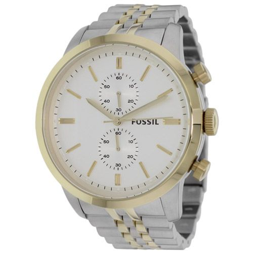 626-670 - Fossil 48mm Townsman Quartz Chronograph Stainless Steel Bracelet Watch