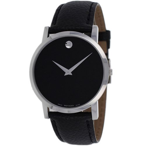 626-677 - Movado 38mm Museum Swiss Quartz Leather Strap Watch