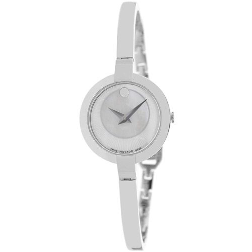 626-678 - Movado Women's Bela Swiss Quartz Mother-of-Pearl Dial Stainless Steel Bracelet Watch