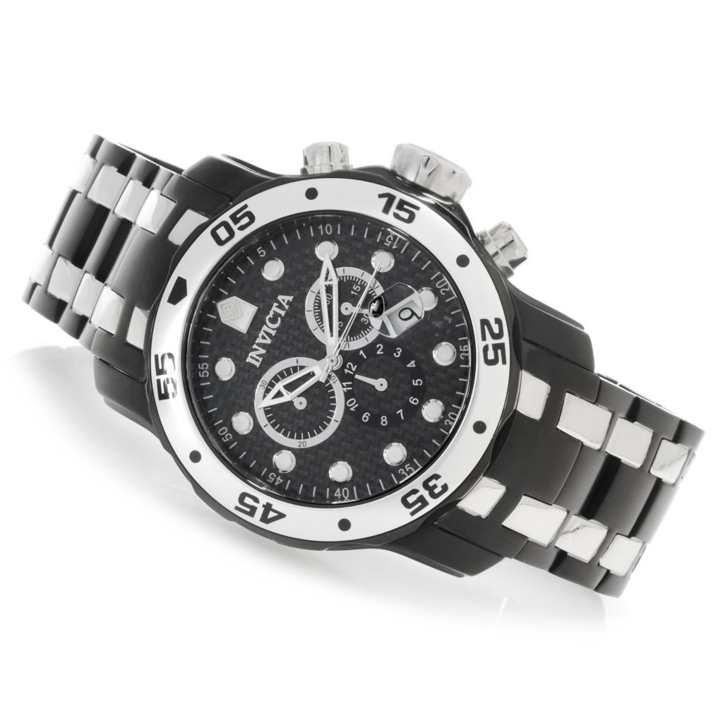 626-679 - Invicta 48mm Pro Diver Scuba Quartz Chronograph Bracelet Watch w/ Eight-Slot Dive Case