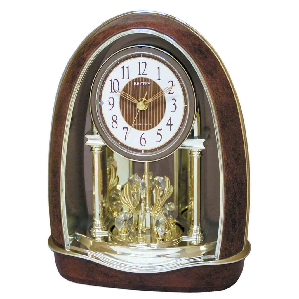 "626-702 - Rhythm® ""Classic Nightingale"" Musical Motion Mantle Clock"